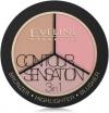 Evelinе Палитра для макияжа 3в1 Contour Sensation