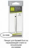 QVS 10-1008 пинцет для бровей Euro со скошенными кончиками