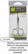 QVS 10-1043 ножницы для кутикулы Metro ултра тонкое изогнутое лезвия