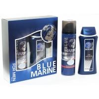 12 BLUE MARINE Набор для мужчин гель для душа 250ml пена для бритья 200ml