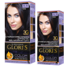 GLORI ' S  крем-краска для волос  1.1 иссиня-черный  (удвоенный объём)