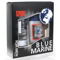 6 Blue Marine SPORT Набор пена для бритья, 200ml бальзам после бритья 150ml