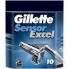 GILLETTE сменные кассеты Sensor Excel 10 шт (ENG)
