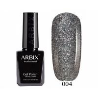 ARBIX Гель-лак №004 Снегурочка Блестки серебро