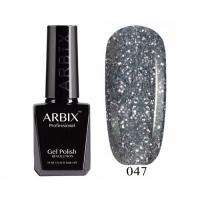 ARBIX Гель-лак №047 Блеск сафитов Темно серые блестки