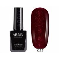 ARBIX Гель-лак №055 Бурлеск Малиновый с блестками