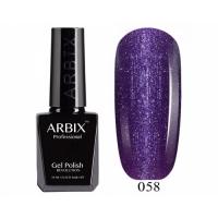 ARBIX Гель-лак №058 Мерцающий туман Фиолетовый перл