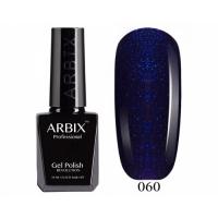 ARBIX Гель-лак №060 Ночной круиз Темно-синий с блестками