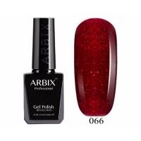 ARBIX Гель-лак №066 Карнавал Красные блестки