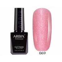 ARBIX Гель-лак №069 Сладкая вата Розовый с мелкими блестками