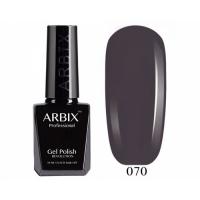 ARBIX Гель-лак №070 Серый Селенит Мокрый асфальт