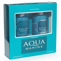 Aqua Marine Аква Марин Набор мужской Шампунь, 250мл   гель для душа, 250мл Фестива
