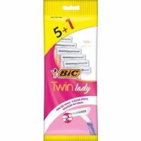 BIC Lady Twin Станок одноразовый 5шт   1шт промо