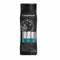 Compliment Black Detox Черный гель для душа Акивированный уголь и Hyaluron, 250мл