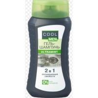 Cool men Гель-шампунь охлождающая свежесть Ultramint 2в1 400ml