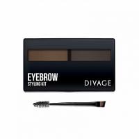 Divage Eyebrow Styling Набор  для моделирования формы бровей, тон 02