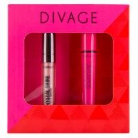 Divage Набор подарочный № 64 (тушь для ресниц `90х60х90` № 6101   блеск для губ crystal shine № 04)