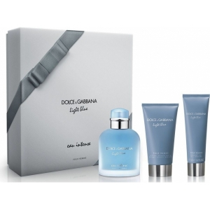 Dolce and Gabbana Light Blue EAU INTENSE Набор для мужчин edp, 100мл   75мл бальзам помле бритья 50мл гель для душа