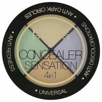 Eveline Concealer Sensation Набор корректоров для макияжа профессиональный 4в1, 12г