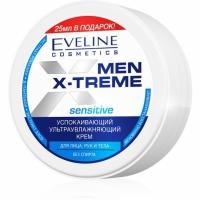 Eveline Men Extreme Sensitive Крем для лица рук и тела успокаивающий ультраувлажняющий, 100мл