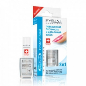 Eveline Nail Therapy 3в1 Сушка Закрепитель Усиление блеска, 12мл