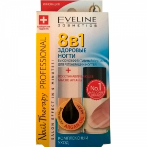 Eveline Nail Therapy Professional препарат 8 в 1 Комплексная регенерация ногтей, 5мл