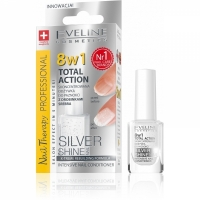 Eveline Nail Therapy Professional препарат 8 в 1 Максимальное восстановление ногтей Silver Shine 12мл