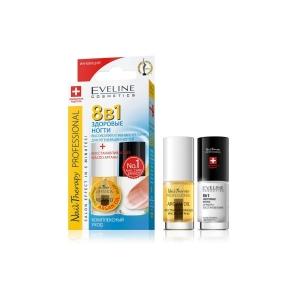 Eveline Nail Therapy Professional набор: препарат для регенерации ногтей 8в1 5мл   восстанавливающее масло арганы, 5мл