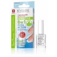 Eveline Nail Therapy Professional концентрированное средство для укрепления ногтей Здоровые ногти 8 в 1 Sensitive Кварц, 12 мл