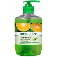 Fresh Juice Жидкое мыло Зеленый мандарин и Пальмароза, 460мл дозатор