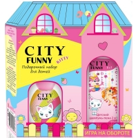 Funny KITTY Набор edp, 30ml душистая вода для девочек   Шампунь - пена, 150ml City parfum,