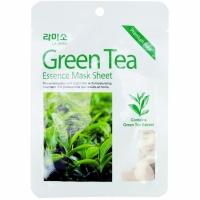 Lanix M La Miso Essence Mask Sheet Тканевая маска для лица с экстрактом зеленного чая антиоксидантная 21 гр