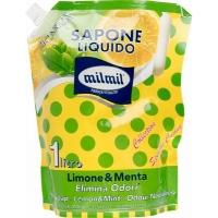 MIL MIL Жидкое мыло Лимон и Мята, 1л дой-пак