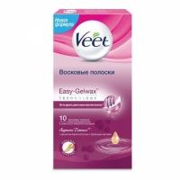 Veet Полоски Easy Gel-wax Роза и Эфир, 10шт