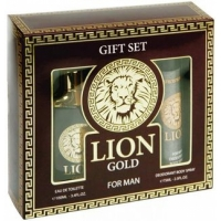 X Bond Lion Gold (Лион Голд) Набор для мужчин edt, 100ml   deo, 75ml