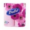 Диво  Бумага туалетная 2-х слойная розовая 4шт
