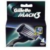 GILLETTE сменные кассеты Mach3 4 шт (ENG)