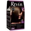 REVIA Крем-краска для волос №12 Горький шоколад