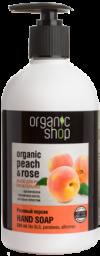 ORGANIC SHOP мыло жидкое питательное Розовый персик 500 ml с дозат.