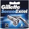 GILLETTE сменные кассеты Sensor Excel 5 шт (ENG)